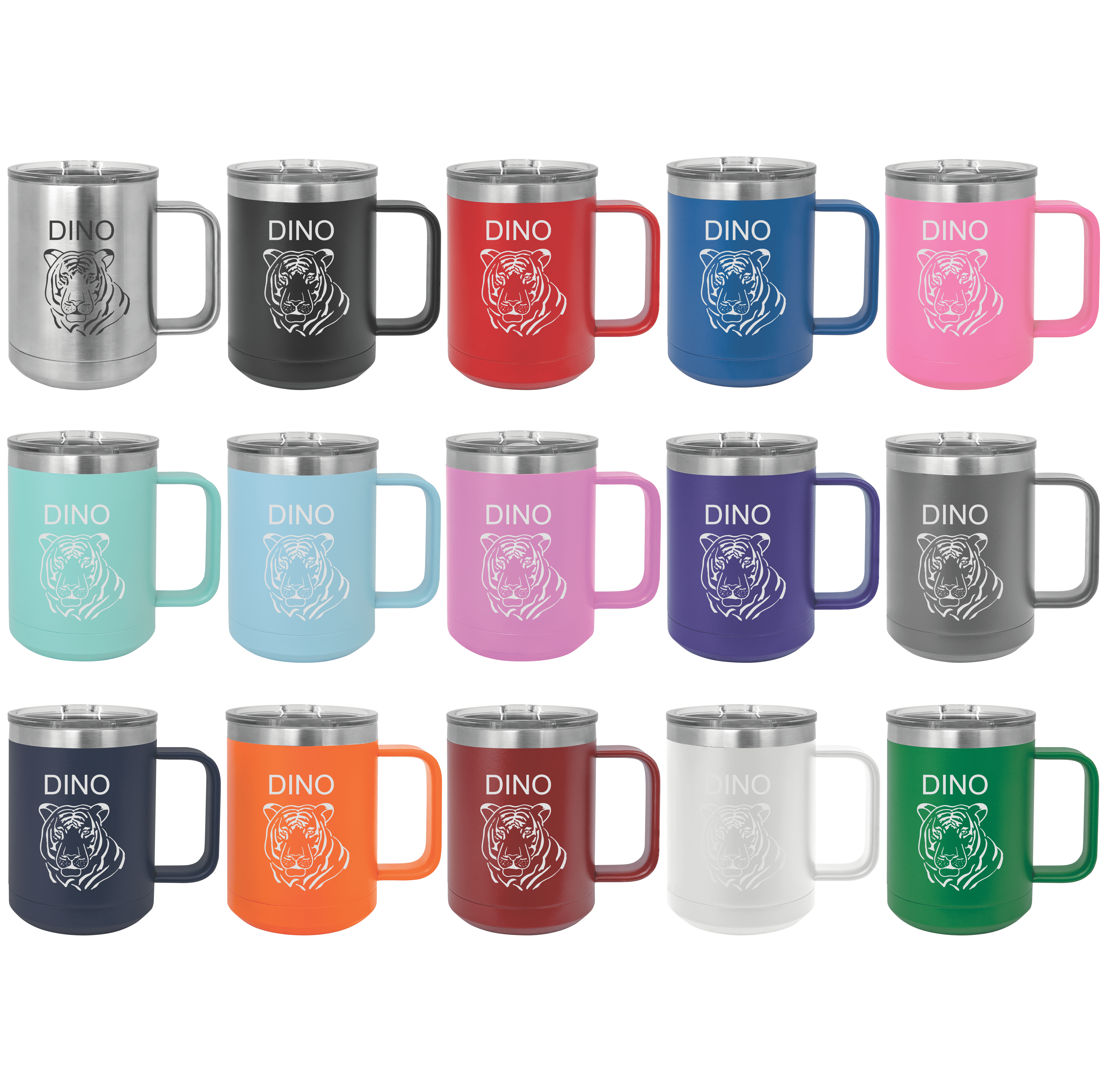 Polar Camel 15oz laser engraved Personalized stainless steel vacuum  insulated tumbler Slider lid