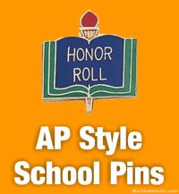 AP Style School Pins