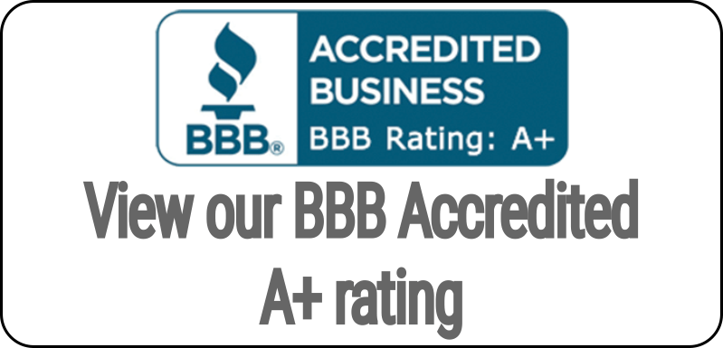 View our BBB Accredited A+ Rating