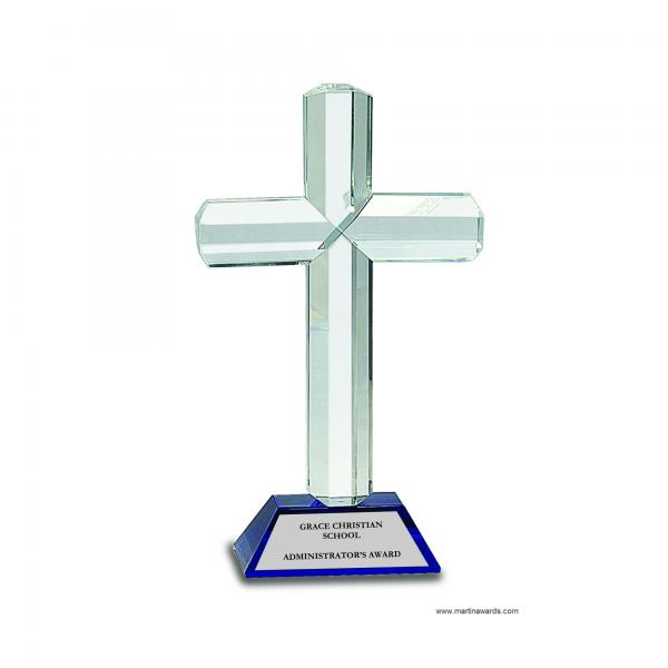 Blue Crystal Cross