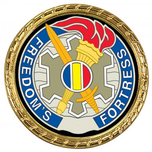 Rope Edge Challenge Coin Insert Holder