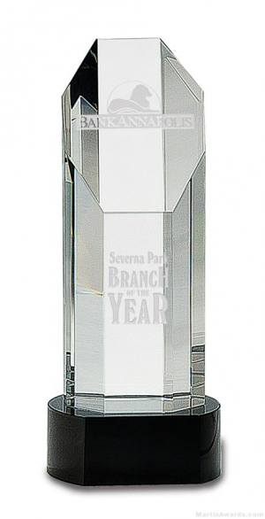 Genuine Prism Optical Obelisk Tower Crystal