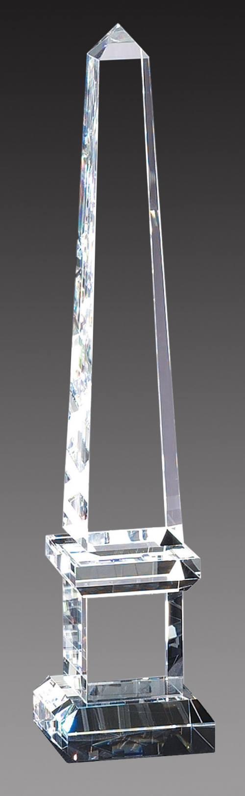 """3"""" x 14 1/2"""" Genuine Prism Optical Crystal Glass Obelisk Awards"""