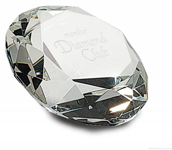 4 inch Clear Crystal Diamond