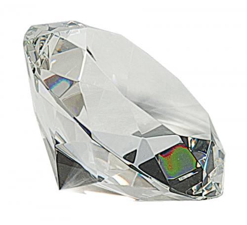 4 inch Clear Crystal Diamond Award