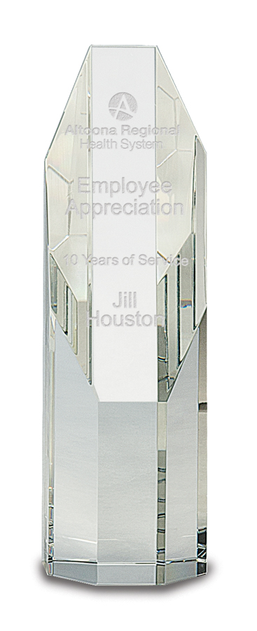 """6"""" and 7-1/2"""" Genuine Prism Optical Obelisk Tower Crystal with octagonal face"""
