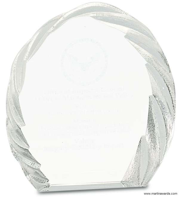 Oval Free-standing Award