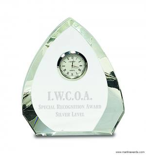 Crystal Arch Clock Award