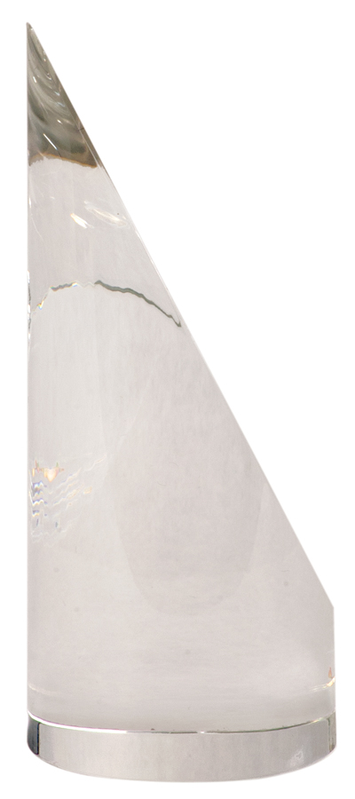 Genuine Prism Optical Cylindrical Tower Crystal with Oval face
