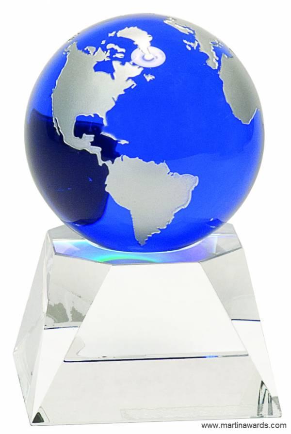 Blue Crystal Globe