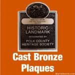 Cast Bronze Plaques