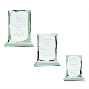 Crystal Rectangle Award on Clear BaseCrystal Rectangle Award on Clear Base