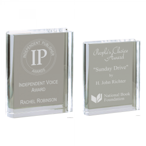 Solid Crystal Free-standing Book Award