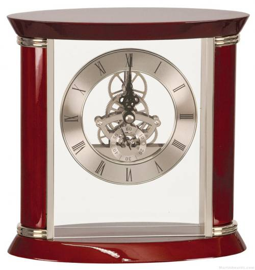Executive Silver/Rosewood Clock