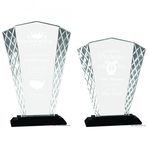 Fan shape Glass with Diamond cut edge – New