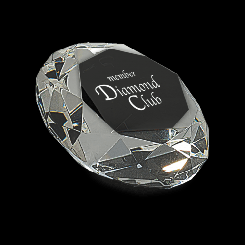 "2 1/2"" Clear Crystal Diamond (4"" Diameter)"