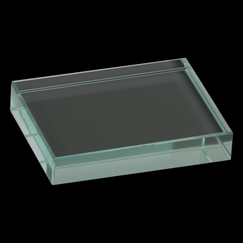 "4"" x 3"" Jade Glass Paperweight"