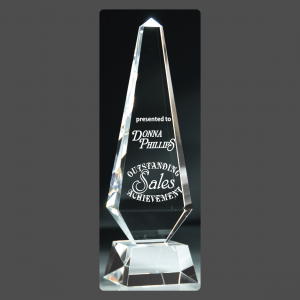 "3 1/4"" x 11"" Crystal Obelisk Towers"