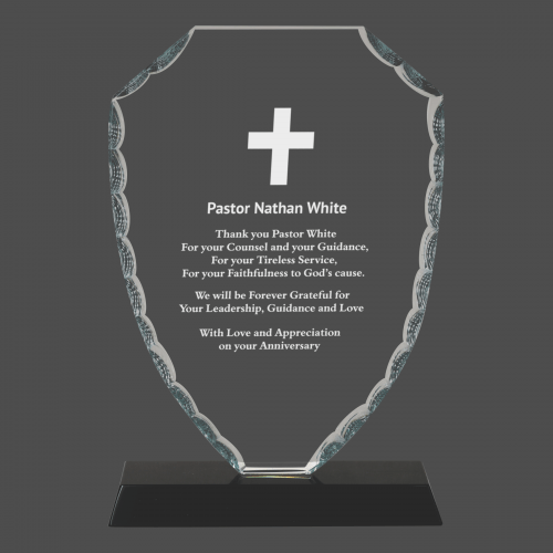 Faceted Shield Glass Award