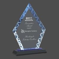 Diamond Accent Glass on Blue & Black Base
