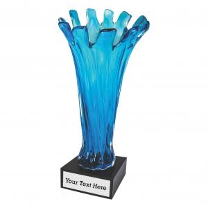 Ocean Blue Cup Art Glass