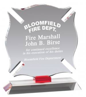 MA0513 - Fire Emblem Badge Shaped Crystal Award