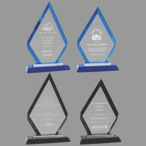 MA0530-MA0533 - Diamond Regal Glass Award
