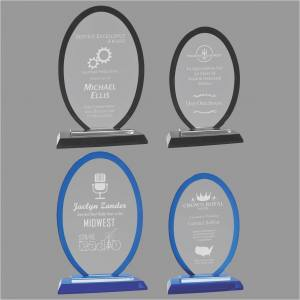 MA0538-MA0541 - Oval Regal Glass Award