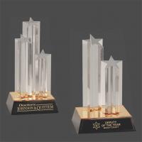 Clear Triple Star Column Acrylic with Gold/Black Base