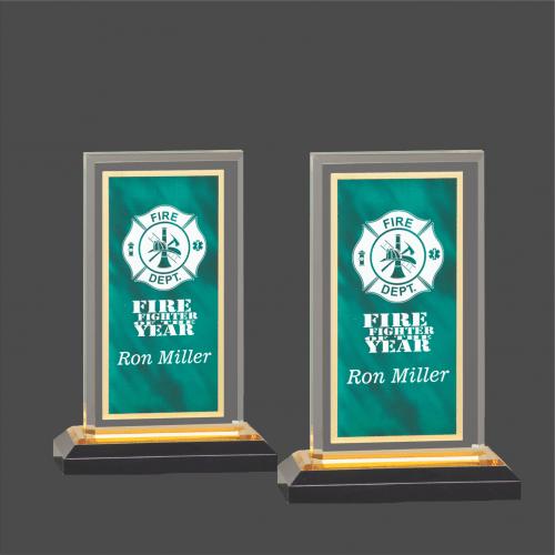 Green & Gold Royal Impress Acrylic