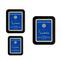 Blue Plate Black Piano-finish Plaque w/ Elliptical Edge