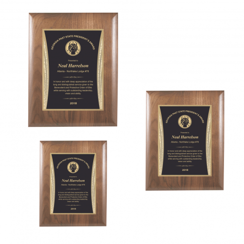 Walnut Plaque with Black Showtime Plate