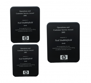 Black High Gloss Color-fill Plaque - Round Corners