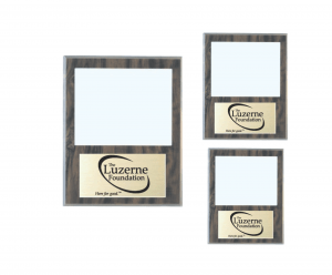 Value Cherry Finish Slide-In Frame Plaque with Window