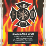 MA4500 – Firefighter Hero Plaque with Vertical Flames