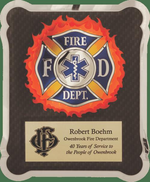 """MA4501 - 10 1/2"""" x 13"""" Firefighter/Medical/EMT Hero Plaque"""