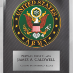 MA4504 – 10 1/2″ x 13″ Army Hero Plaque