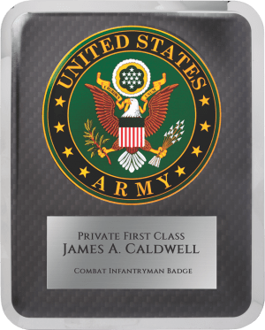 "MA4504 - 10 1/2"" x 13"" Army Hero Plaque"