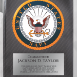 MA4505 – Navy Hero Plaque