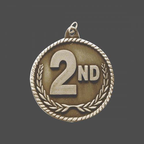 """2"""" 2nd Place High Relief Medal"""