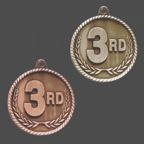 "2"" 3rd Place High Relief Medal"