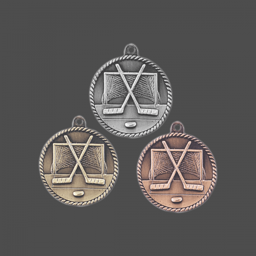 "2"" Hockey High Relief Medal"