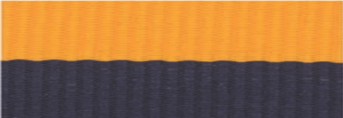 """7/8"""" Navy Blue/Gold Neck Ribbon with Snap Clip"""
