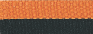 "7/8"" Black/Orange Neck Ribbon with Snap Clip"