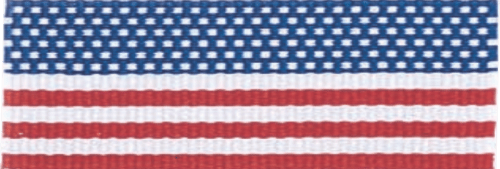 """7/8"""" Flag Neck Ribbon with Snap Clip"""