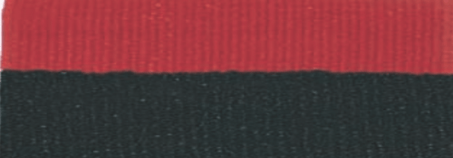 """7/8"""" Black/Red Neck Ribbon with Snap Clip"""