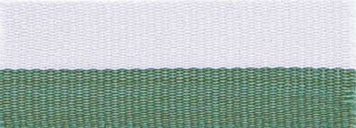 """7/8"""" Green/White Neck Ribbon with Snap Clip"""