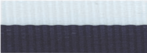 """7/8"""" Navy Blue/White Neck Ribbon with Snap Clip"""