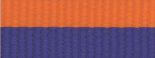 "7/8"" Blue/Orange Neck Ribbon with Snap Clip"