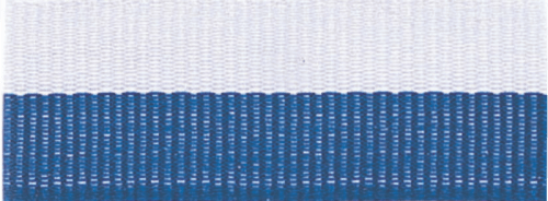 """7/8"""" Blue/White Neck Ribbon with Snap Clip"""
